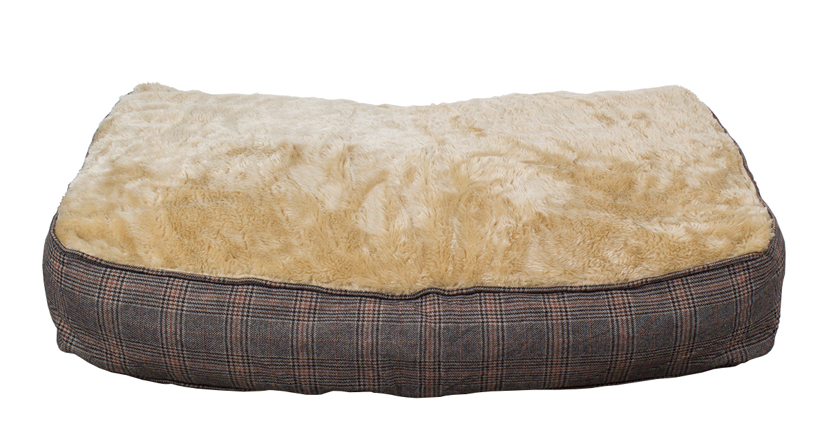Hundekissen XL extra dick, Tweed-Optik, 100x70 cm