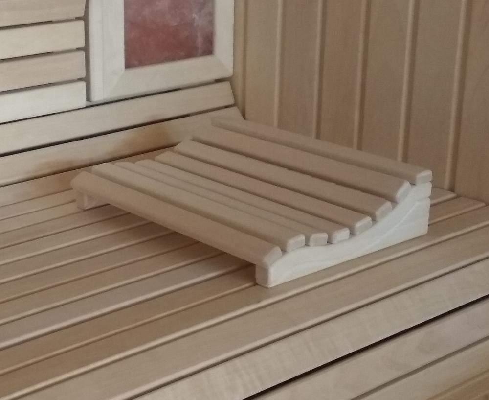 Sauna-Kopfstütze Marie, Espenholz