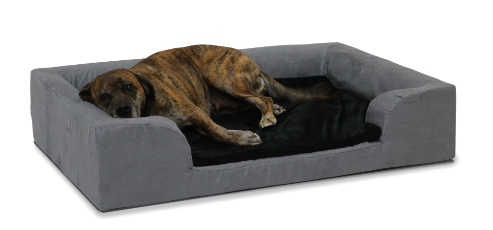 Hundekissen dunkelgrau/schwarz 120 x 80 cm, Memory Foam