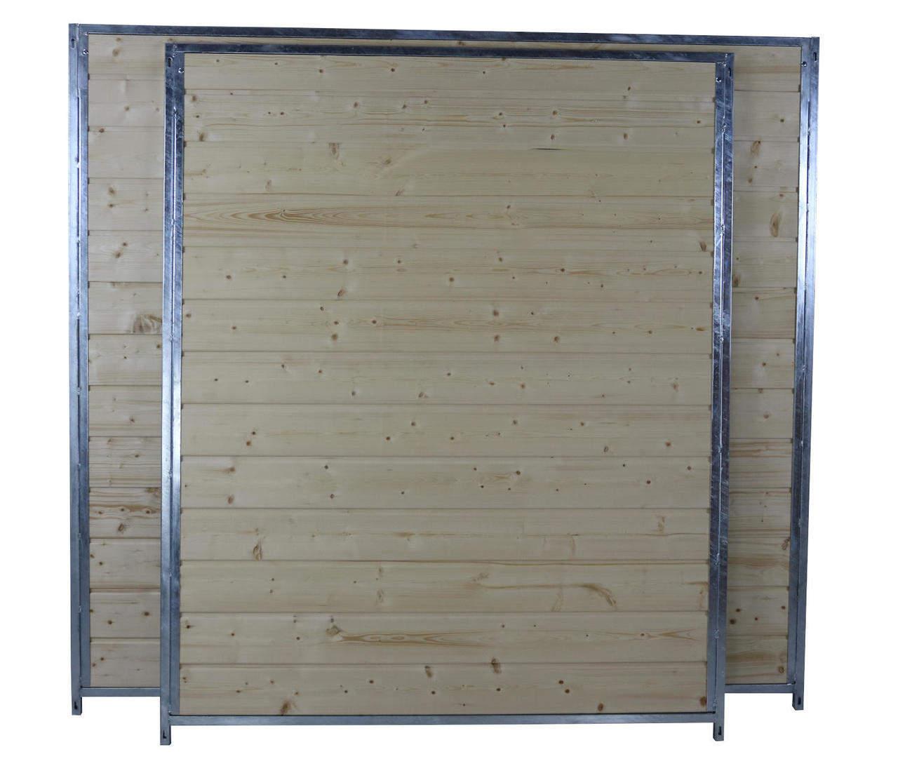 Holzelemente Sonderserie in 1,5 m und 2 m Breite, naturbelassen