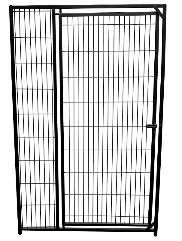 Colour Hundezwinger Gitterelement mit Tür, schwarz, 1,6 x 1,0 m