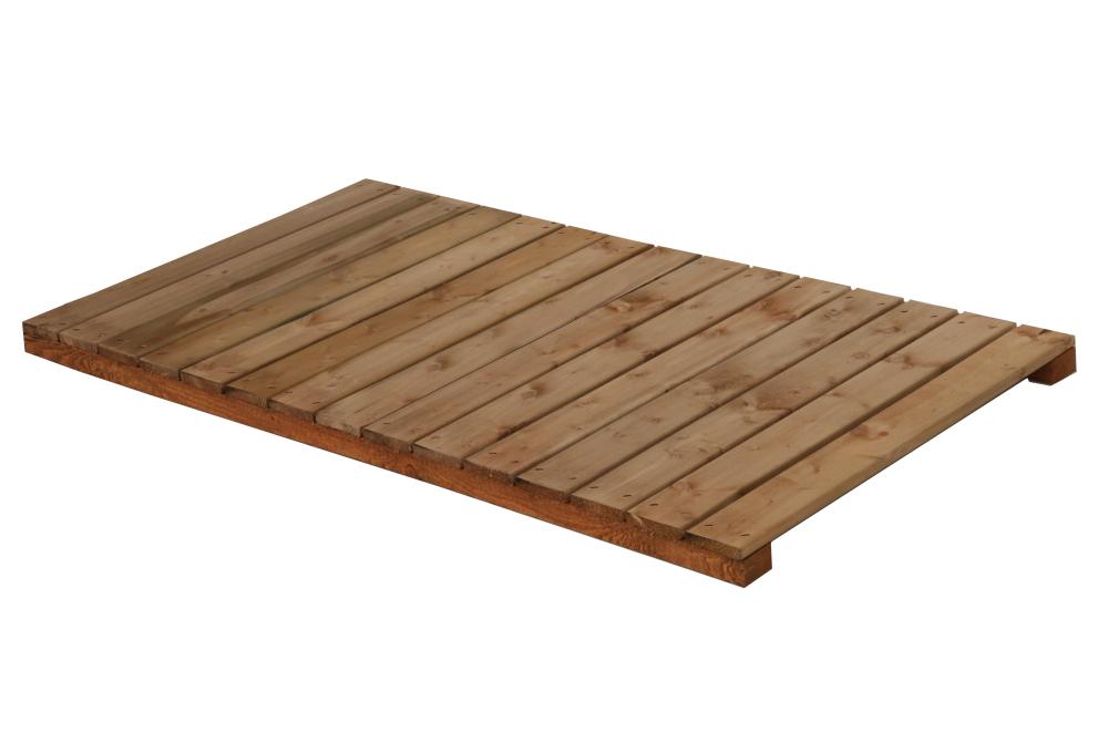 Holz-Liegerost zu Hundehütte Größe Napoleon mit Vorraum - 100x54 cm, braun imprägniert