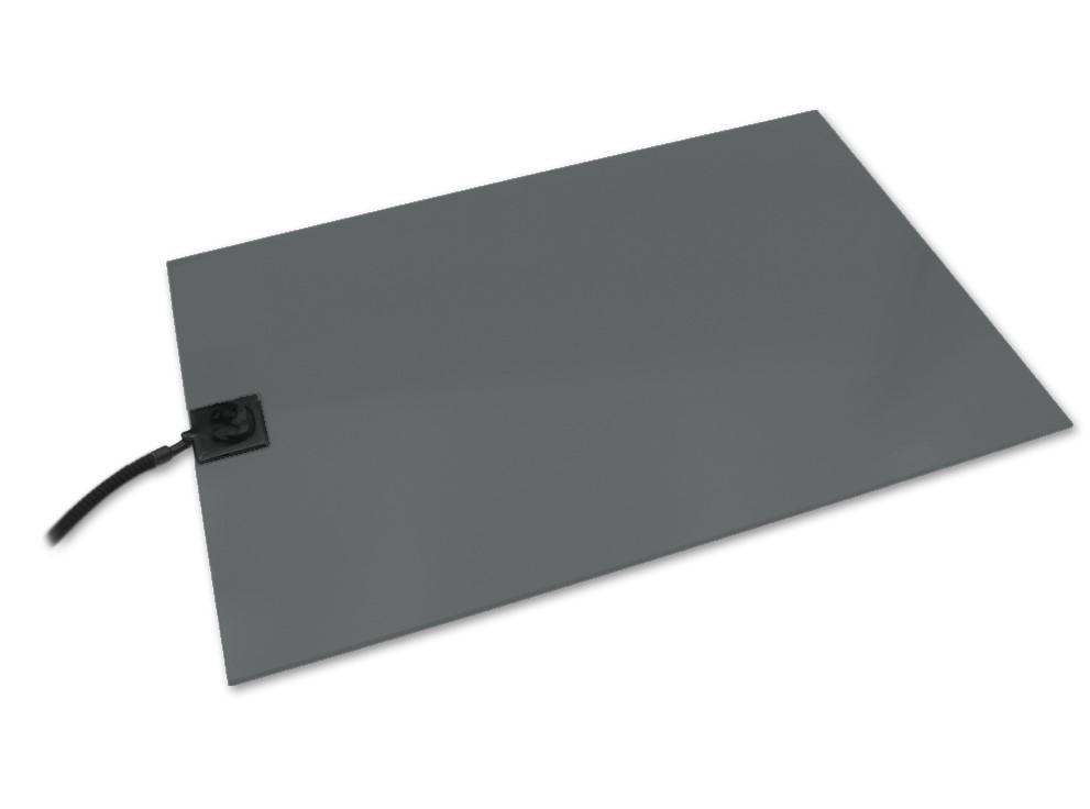 Wärmeplatte PVC 230/24V groß 58x81 cm inkl. Trafo, mit Bissschutz