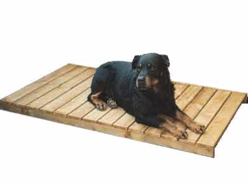 Liegeroste aus Holz, braun imprägniert, passend zu SAUERLAND Hundehütten