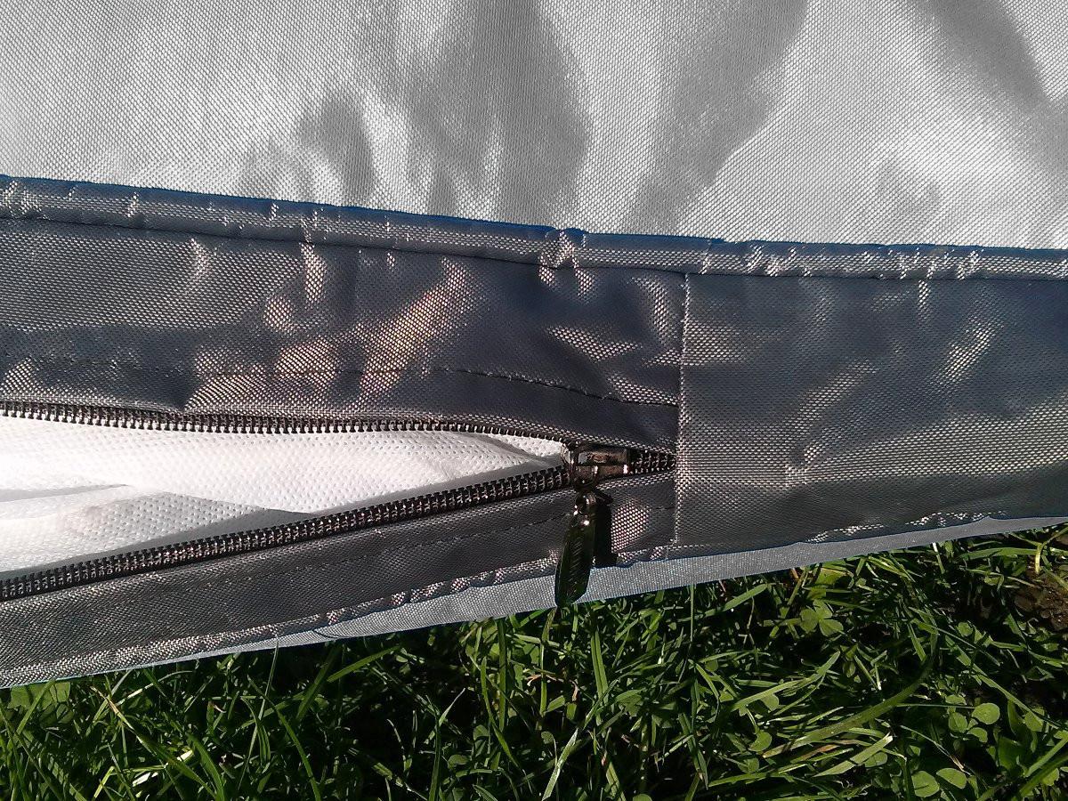 Kissenbezug für Outdoor-Hundekissen 120 x 80 cm (ohne Füllung), grau