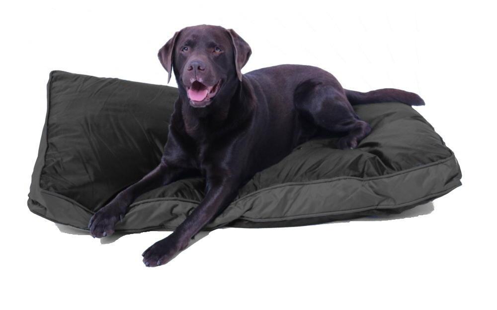 Outdoor-Hundekissen 120 x 80 cm, wasserdicht und robust, schwarz