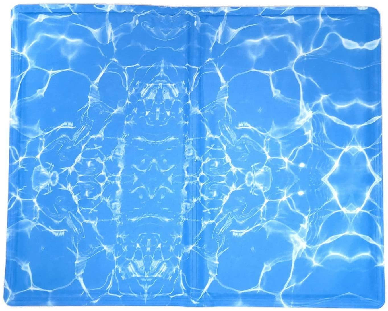Kühlmatte für Hunde 50 x 40 cm, blau Wellendesign
