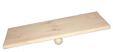 Welpen-Wippe 60x40x10 cm, Activity Holz-Wippbrett für Hunde, naturbelassen