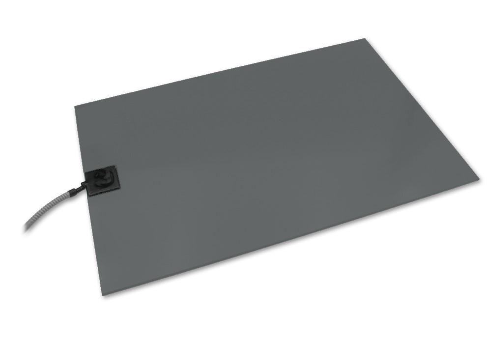 Mobile Wärmeplatte PVC groß 58x81 cm mit Kfz-Stecker und Bissschutz