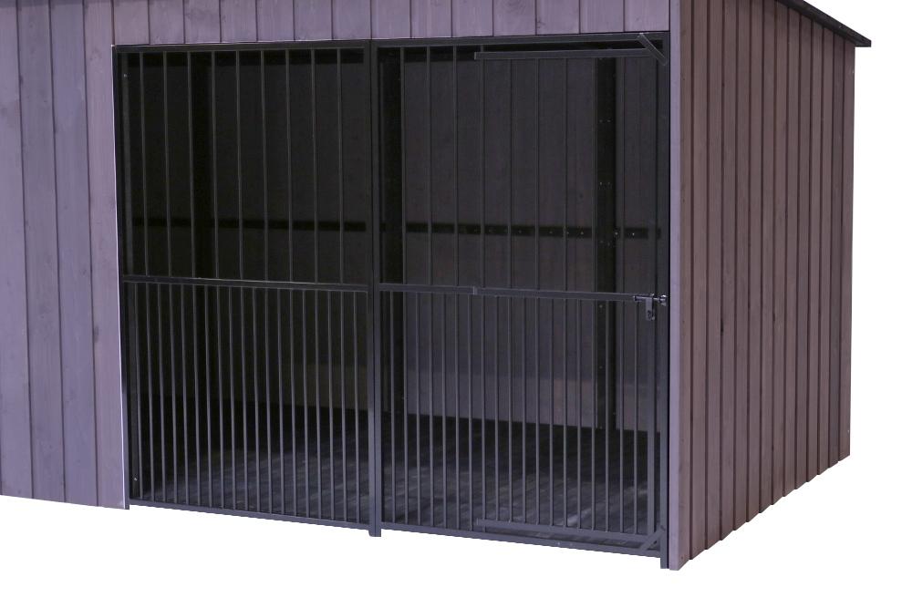 SunnyDogs Hundezwinger 2 x 2 m mit Rohrstab-Front