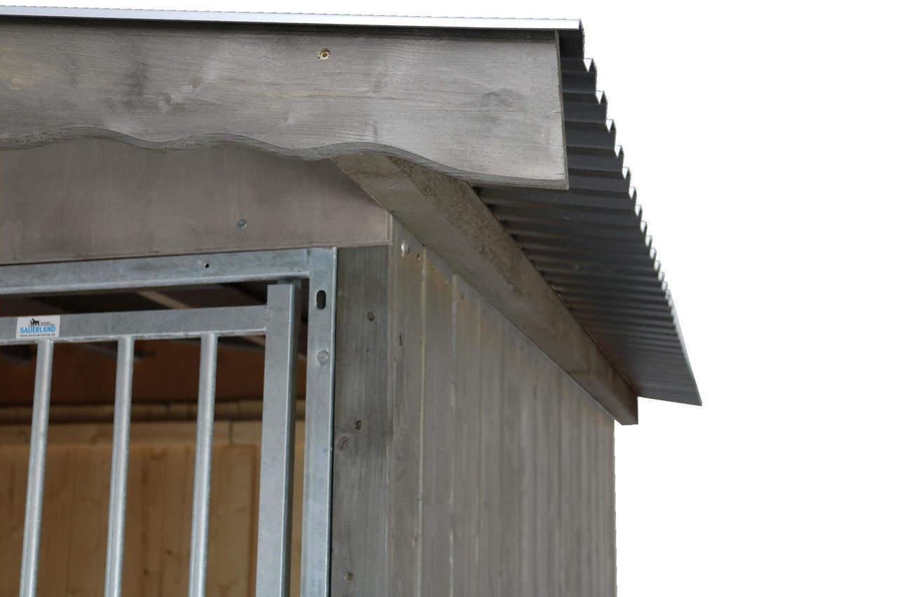 Detailansicht Dach mit Frontblende