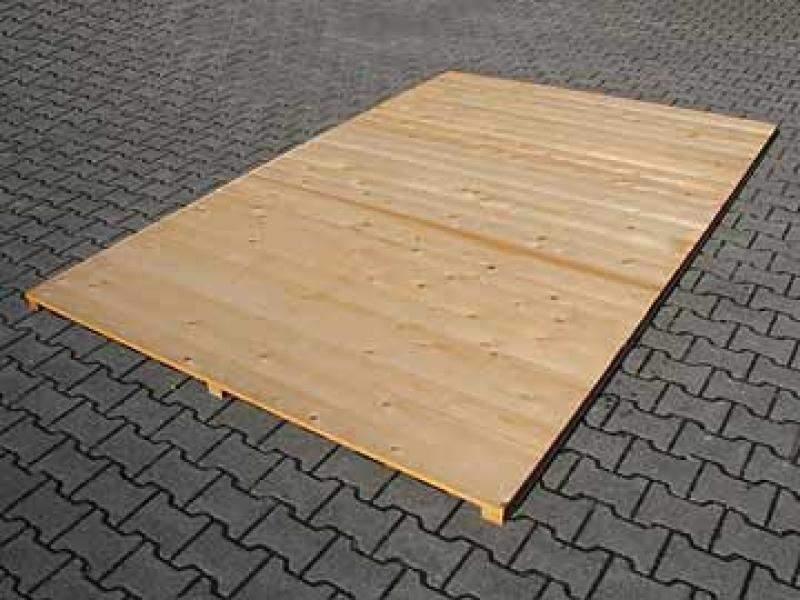 Holzboden für Hundezwinger, naturbelassen, Dickschichtlasur 3,0 x 3,0 m