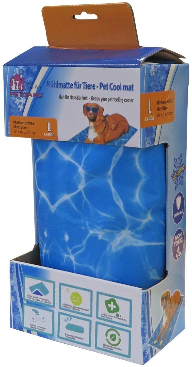 Kühlmatte für Hunde 90 x 50 cm, blau Wellendesign