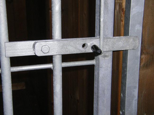 Hundezwinger Rohrstabelement Preisstar mit Tür, 1,84 x 1,0 m   Rohrabstand 8 cm
