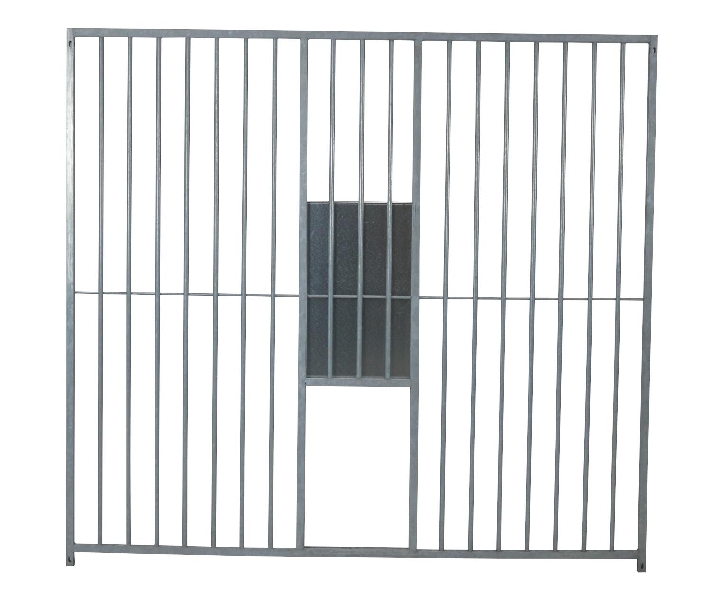 Hundezwinger Rohrstabelement Preisstar mit Schlupf und Schieber, 1,84 x 2,0 m | Rohrabstand 8 cm