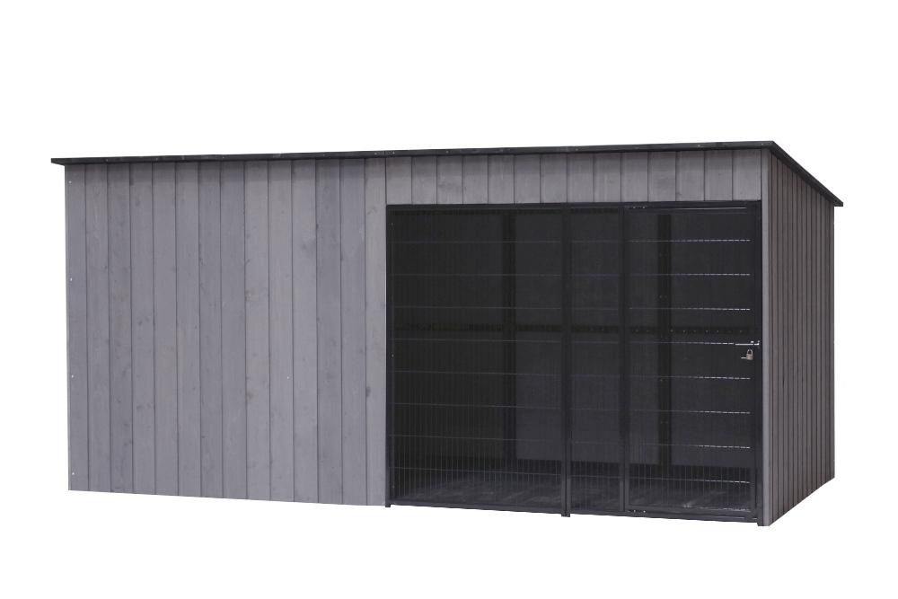 SunnyDogs Hundezwinger 2 x 4 m mit Gitter-Front