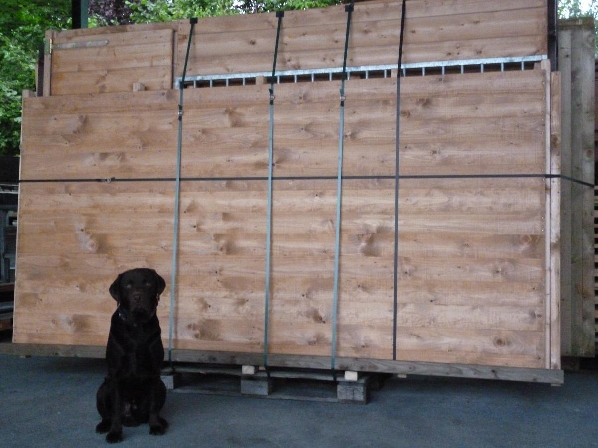 Winterberg-Luxus Holzzwinger mit Pultdach, imprägniert, 3 x 4 m | Rohrstab Abstand 8 cm