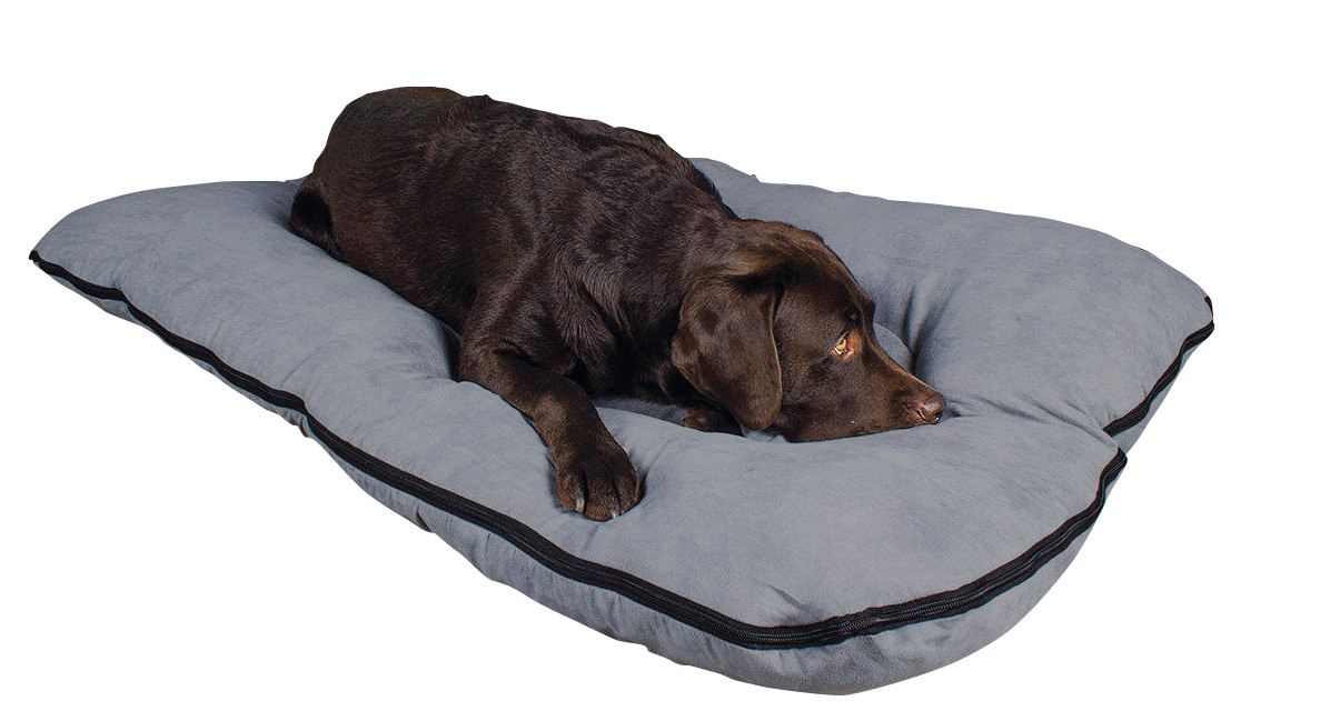Hundebett / Hundekissen XXL grau, 120x80 cm, 10 cm hoch
