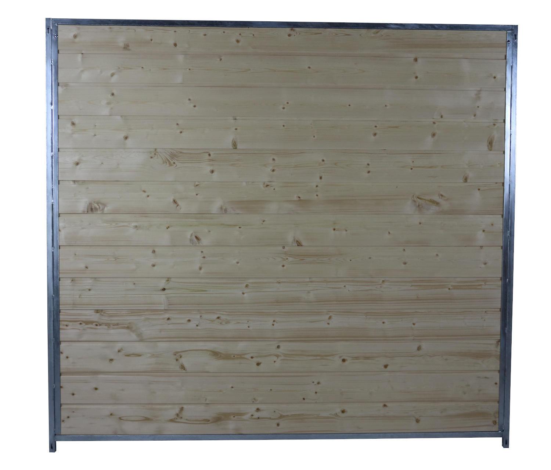 Sonderserie Holzelement B 200 cm mit Metallrahmen, naturbelassen