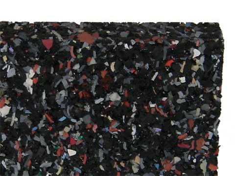 Gummimatten 20 mm stark, 80x120 cm massiv, rutschfest atmungsaktiv isolierend trittelastisch