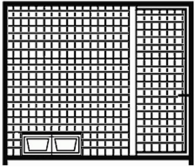 Hundezwinger Gitter-Elemente Home mit Tür und Futterset