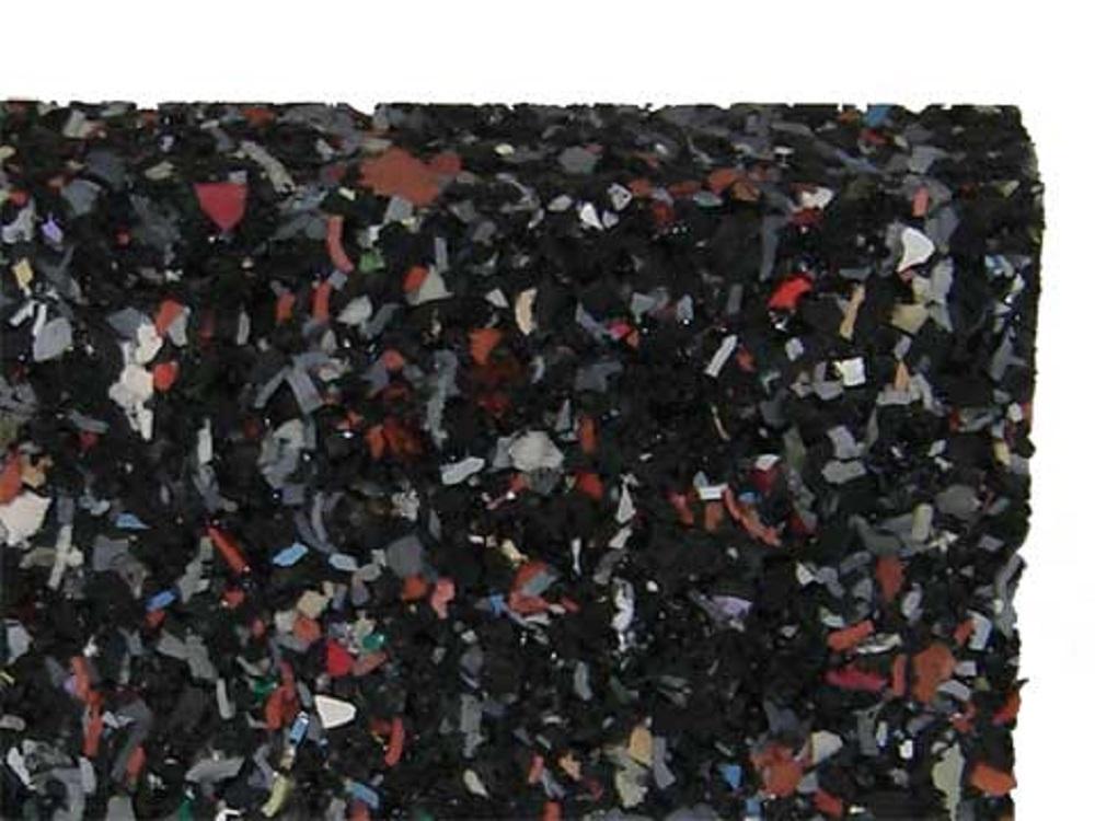 Gummimatten 10 mm stark, 80x120 cm massiv, rutschfest atmungsaktiv isolierend elastisch