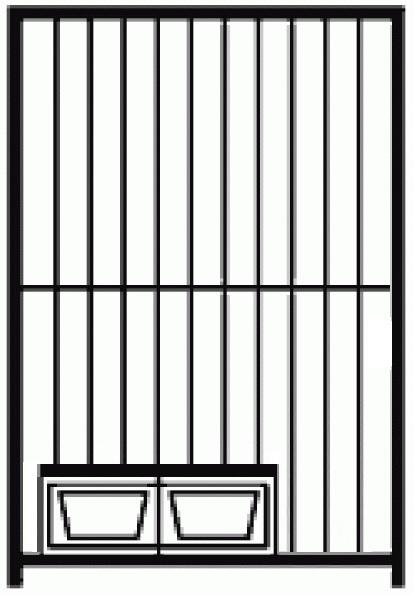 Hundezwinger Rohrstabelement Preisstar mit Futterset, 1,84 x 1,0 m | Rohrabstand 8 cm