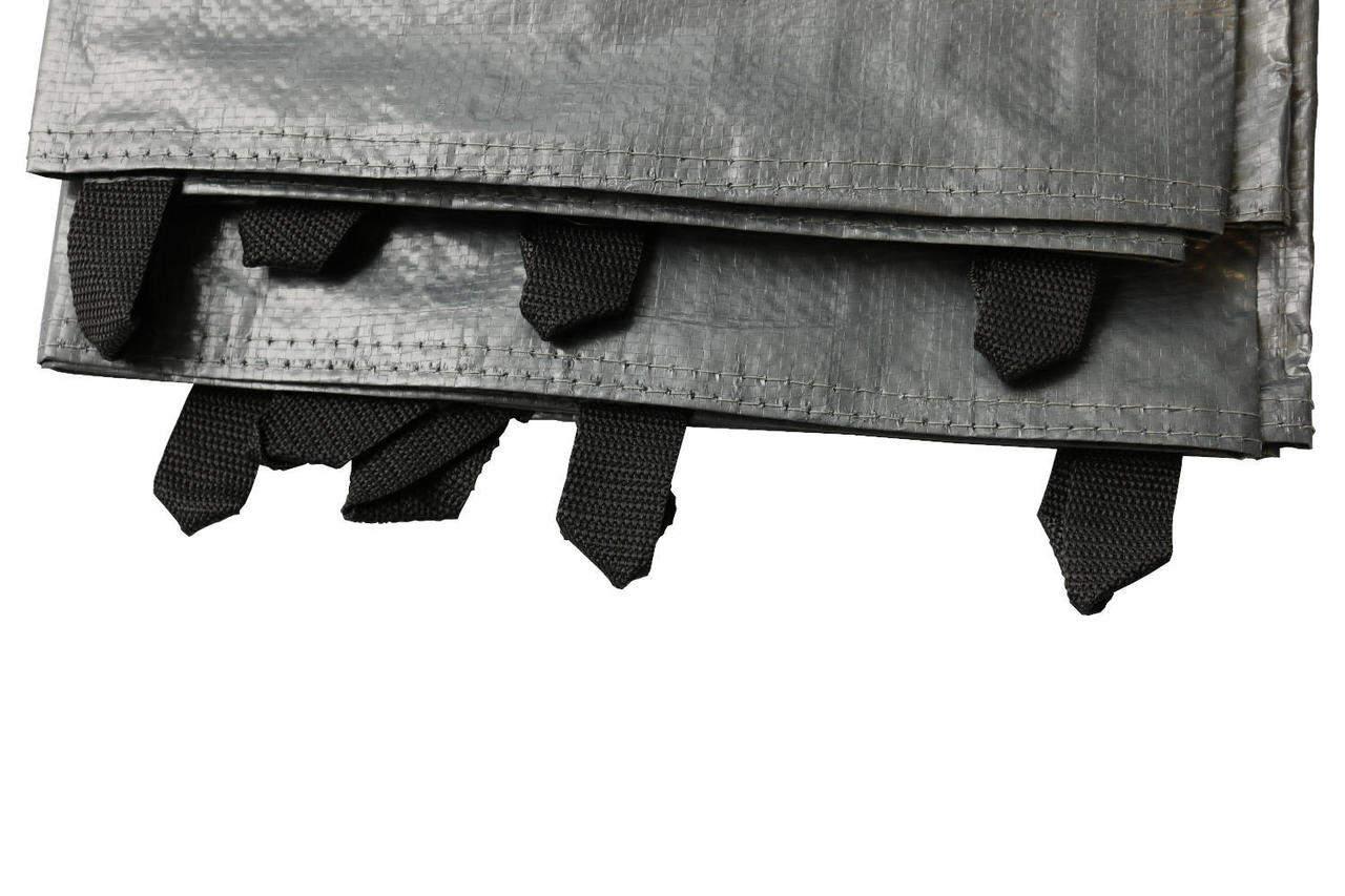 Sandkastenabdeckung 170 x 170 cm, Bändchengewebe grau