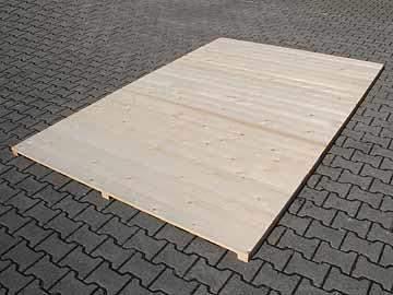 Holzboden für Hundezwinger, unbehandelt