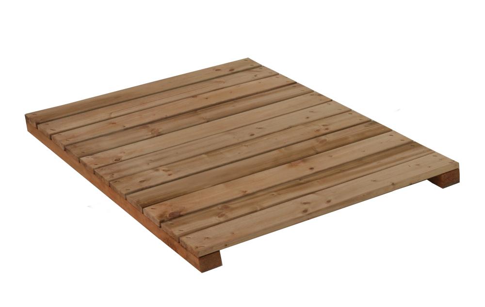 Holz-Liegerost zu Hundehütte Größe Dino - 130x96 cm, braun imprägniert