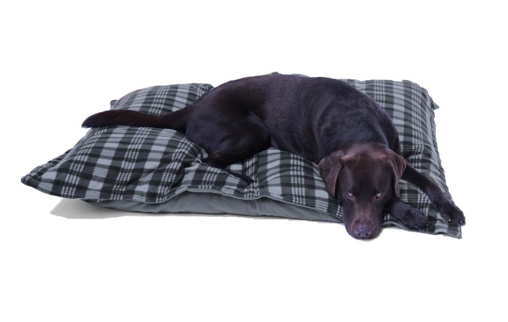 Hundebett / Hundekissen XXXL grau/Karo, 120x100 cm, Wendekissen