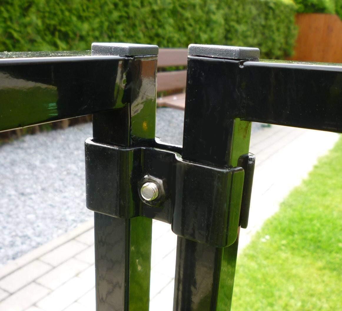 Colour Welpenauslauf 0,9 x 1,8 m schwarz, mit Doppeltür und Befestigungsklammern