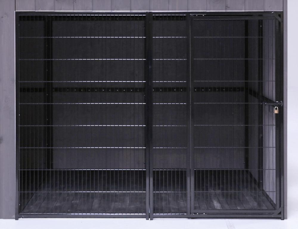 SunnyDogs Hundezwinger 2 x 3 m mit Gitter-Front