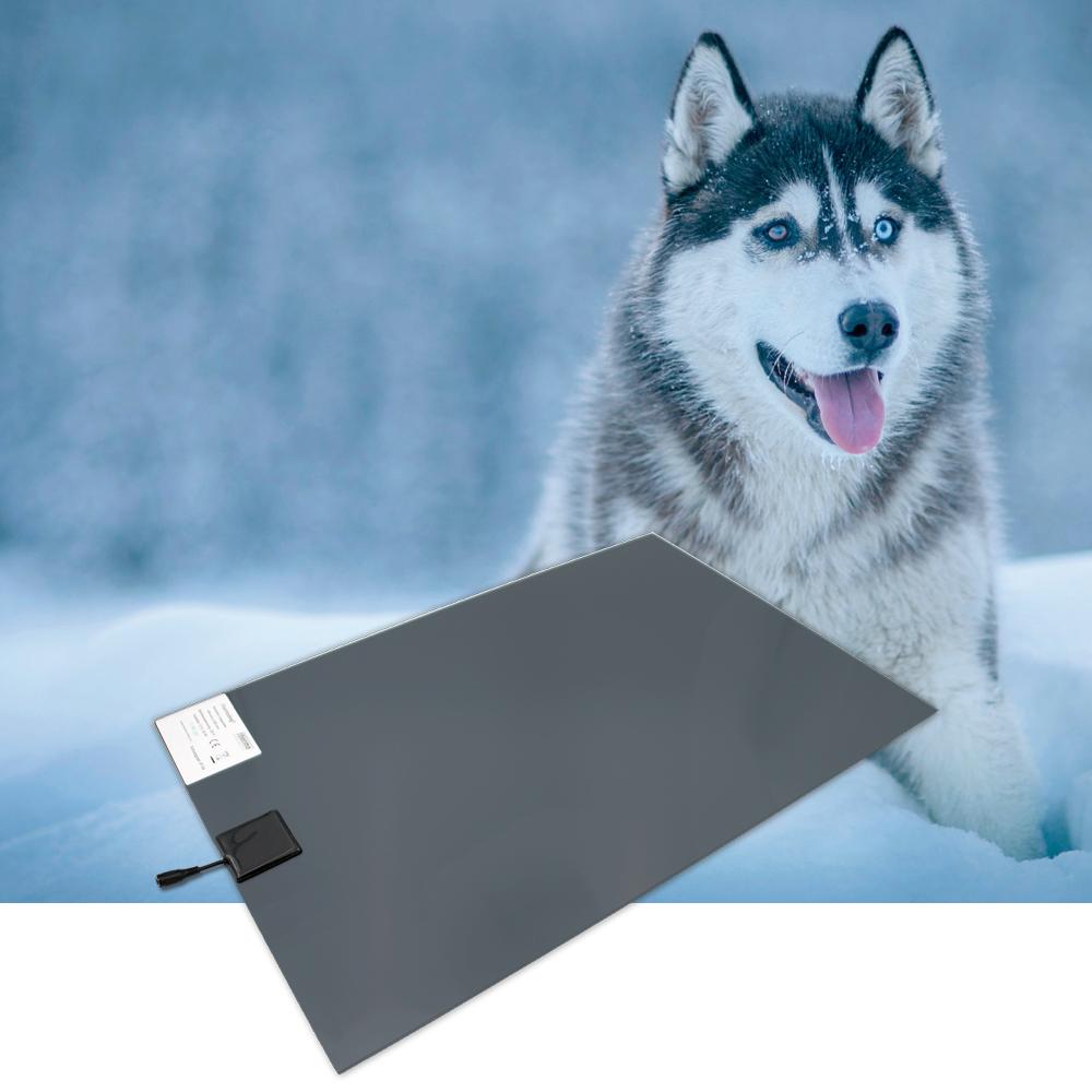 Wärmeplatte PVC 230/24V groß 58x81 cm inkl. Trafo, mit Bissschutz, Kabel absteckbar