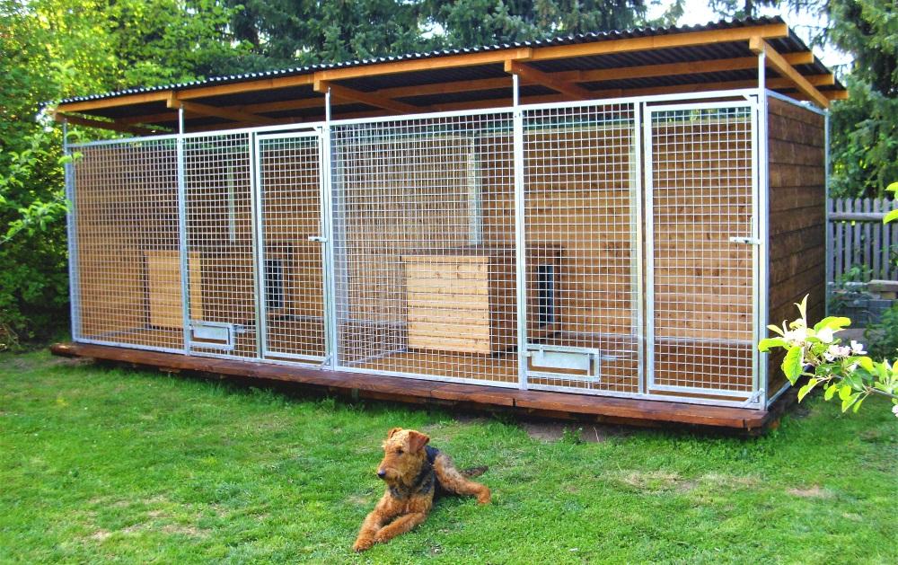Hundezwinger Gitter-Elemente Home mit Tür und Futterset, 1,8 x 1,5 m