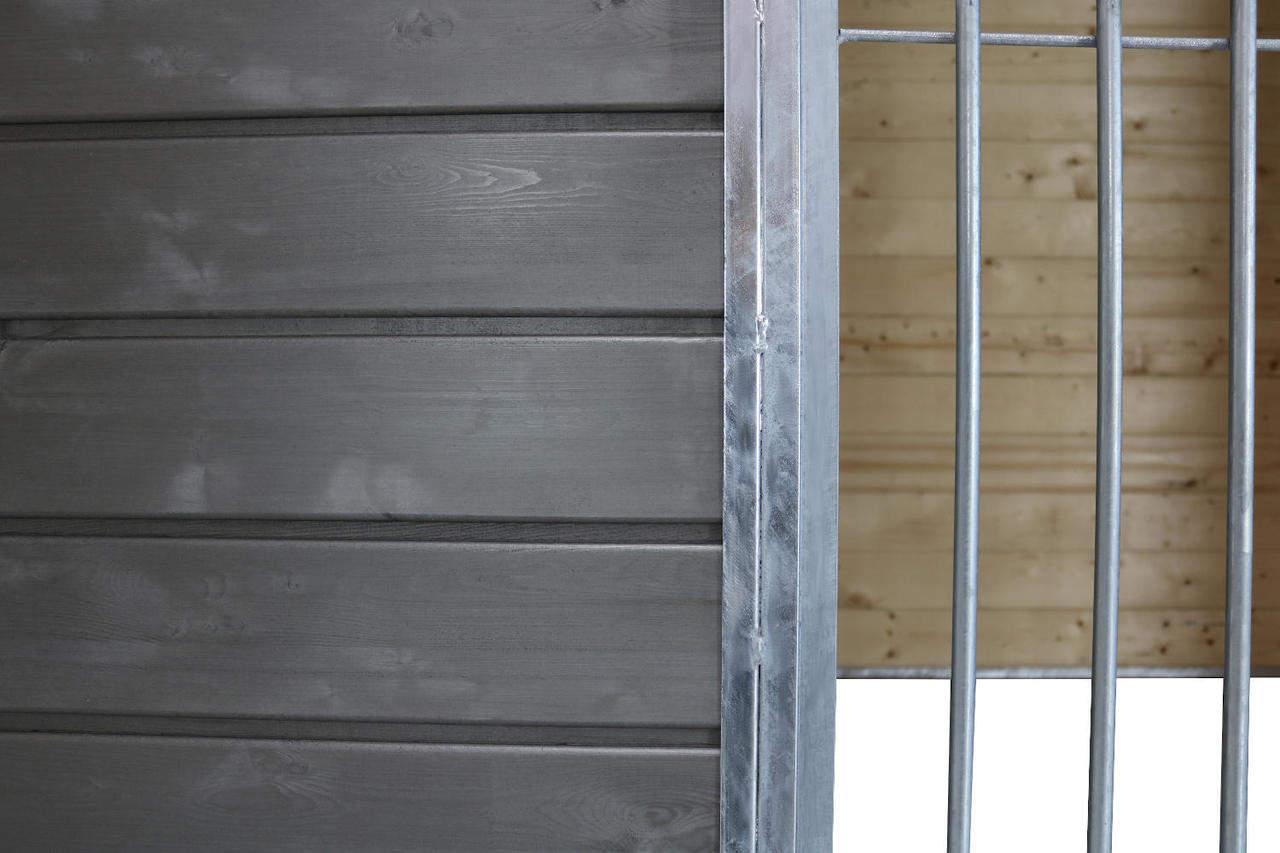 Detailansicht Zwinger-Front von außen