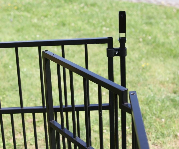 Colour Rohrstab-Welpenelement mit Einzeltür 0,9 x 1,0 m, schwarz